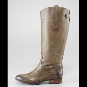 Sam Edelman Penny Tall Olive Tan Riding Boots